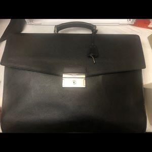 Authentic Prada Black Briefcase